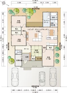 1F間取 もっと見る Dream House Plans, House Floor Plans, Popup, Craftsman Floor Plans, Room Planning, Garage House, Japanese House, House Layouts, House Rooms