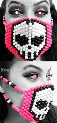 White Skull Kandi Mask