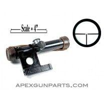 PU Scope W/Aluminum Bracket, M91/30, RUSSIAN