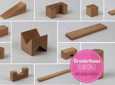 bruderhausDIAKONIE wooden building blocks • beech wood • made in Germany