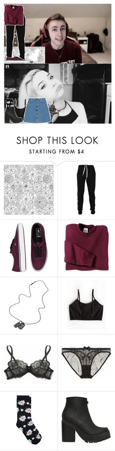 """""""OOTD's ¬ Simon (miniminter) + Amanda"""" by thatemo-anons ❤ liked on Polyvore featuring Lija, Vans, Gildan, Diesel, Sugarlips, L'Agent By Agent Provocateur, Agent Provocateur, STELLA McCARTNEY, Oasis and Miista"""