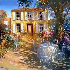 ۩۩ Painting the Town ۩۩ city, town, village house art - Laurent Parcelier, 1962 Gravure Photo, Pintura Exterior, Wow Art, Renoir, French Artists, Light Art, Beautiful Paintings, Oeuvre D'art, Painting Inspiration