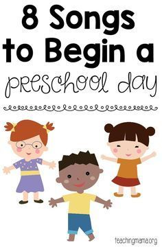 8 Songs to Begin a Preschool Day - free printable song posters! A fun way to start the day with preschoolers. 8 Songs to Begin a Preschool Day - free printable song posters! A fun way to start the Kindergarten Songs, Preschool Songs, Preschool Learning Activities, Preschool At Home, Preschool Lessons, Preschool Activities, Kids Songs, Preschool Movement Songs, Circle Time Ideas For Preschool