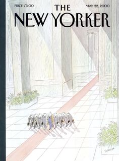 """The New Yorker - Monday, May 22, 2000 - Issue # 3890 - Vol. 76 - N° 12 - Cover """"Hanging on Every Word"""" by """"Sempé"""" - Jean-Jacques Sempé"""
