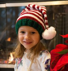Santa's Helper Stocking Hat Knitting pattern by Flora and Fauna Knitwear Design Traditionally, the children in our family pass out the gifts at Christmas - so of course, this important job deserves a . Arm Knitting, Knitting For Kids, Knitting Projects, Christmas Knitting Patterns, Knitting Patterns Free, Free Pattern, Knitted Hats, Crochet Hats, Knitted Headband