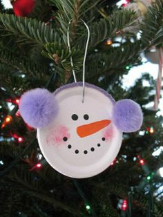 weihnachtsbaumschmuck schneemann basteln christbaum dekorieren