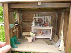 #miniature , cabanon de jardin .