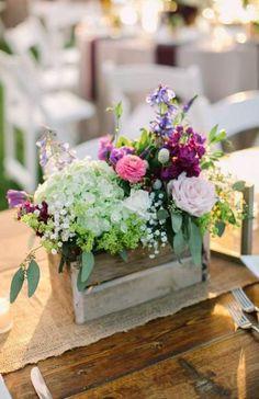 Rustic hydrangeas and purple wildflower centerpieces wedding Wildflower Centerpieces, Floral Centerpieces, Wedding Centerpieces, Wedding Decorations, Wedding Ideas, Lavender Centerpieces, Centrepieces, Navy Wedding Flowers, Flower Bouquet Wedding