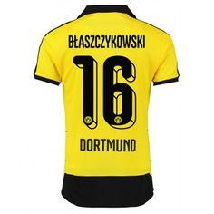 89e4b2495 Günstige fußballtrikots BVB Borussia Dortmund 15-16 Blaszczykowski Heim  Trikot Soccer Shirts