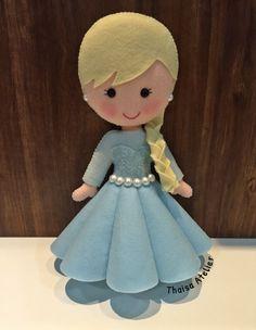 Princesa Elsa Frozen Disney em feltro.