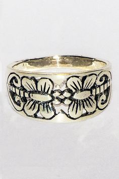 925 Sterling Silver Floral Band Ring In Stock Price Band Rings, Sterling Silver Rings, Fashion Jewelry, Floral, Sterling Silver Band Rings, Trendy Fashion Jewelry, Flowers, Costume Jewelry, Stylish Jewelry