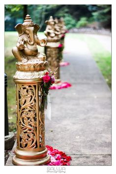 Image result for indian wedding entrance table decorations