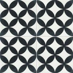 Carreaux de ciment - Les motifs - Carreau NB 01 - Couleurs & Matières