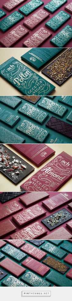 ACH Vegan Chocolate Limited edition packaging design by Gintarė Ribikauskaitė - http://www.packagingoftheworld.com/2016/12/ach-vegan-chocolate-limited-edition.html