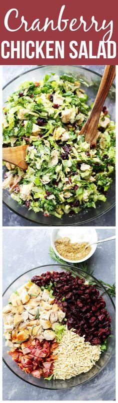 Cranberry Chicken Salad with Light Dijon Parmesan Dressing