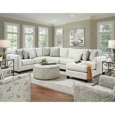 You'll ❤ The Southern Furniture 28 Sectional Sofa 1 Homecoming Stone Fabric Stone Living Room Sectional, Home Living Room, Living Room Designs, Sectional Sofas, Living Room Ideas With Sectionals, Couches, Sectional Sofa Layout, Oversized Sectional Sofa, Round Sectional