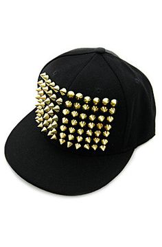 7f9ff630ddc ... peaches2die4s save of king ice black gold spike crown snapback cap on  wanelo