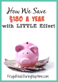 We use this ONE trick to save $180 a year with very little effort! It's a trick we've been doing for eight years! Find out our secret and start doing the same to save some extra cash.