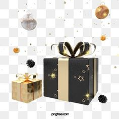 black gold texture christmas gift box, Festival, Party, PNG and PSD Merry Christmas Text, Christmas Tree With Gifts, Gold Christmas, Golden Texture, Rose Gold Texture, 3d Geometric Shapes, Black Gold Party, Happy Birthday Art, Valentines Gift Box