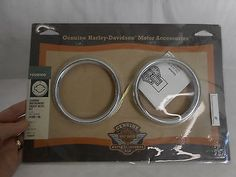#Harley Harley-Davidson Touring Chrome Instrument Gauge Bezel Kit P/N 74560-96 please retweet