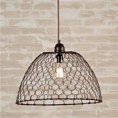 Pollo cesta de alambre Luz