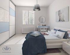 Błękit to wyjątkowy kolor. Dzięki swojej delikatnej barwie nie tylko wprowadza do pomieszczenia spokój i równowagę, ale działa również niezwykle wyciszająco. Wystarczy kilka akcentów by nadać wnętrzu przytulny, relaksujący charakter. Taki efekt można uzyskać dzięki szklanym wypełnieniom frontów zabudowy lub toaletki. Błękitne szkło o matowej powierzchni, dostępne w ofercie Komandor, nadaje meblom subtelnego a zarazem bardzo wyrafinowanego wyglądu.