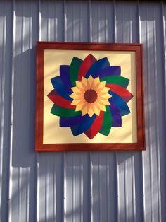 "Kansas Flint Hills Quilt Trail: RILEY COUNTY: ""Pinwheel"" Deanna Selby, 3930 S 24th St, Manhattan, KS 66502 Artists: Douglas and Ruth Parker and Jen Smith (Come by way of the corner of 40th St & 24th St. On back side of building)"