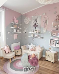 Girl Room Bedroom Ideas - How to Decorate a Disney Princess Room - Decor By Daisy Small Room Bedroom, Baby Bedroom, Baby Room Decor, Nursery Room, Girls Bedroom, Trendy Bedroom, Nursery Decor, Small Rooms, Room Girls