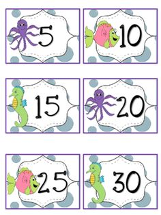 Ocean Theme Reading Points by 5s from Chansi.Akridge from Chansi.Akridge on TeachersNotebook.com (10 pages)  - Cute Ocean Theme points for classroom display with tracking reading goals. 5-100