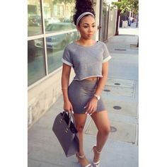 Cheap Fashion O Neck Short Sleeves Grey  Blending  Sheath Mini Dress