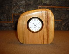 Handmade Wood Clocks | Free-Form Wood Desk Clocks