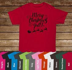 Merry Christmas Y'all T-Shirt/Christmas Shirt/Holiday