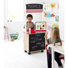 George Home 2 in 1 Wooden Play Shop & Cafe | View All George Wooden Toys | ASDA direct