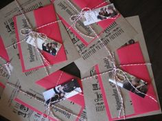 I love love LOVE this invitation suite!  Nice DIY add-ons to make it more personal!