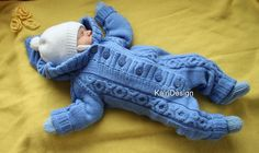 Knitting pattern for baby overall 0-3 month by kairidesign on Etsy