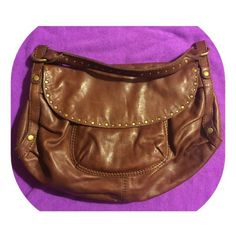 Lucy Brand Leather Hobo Normal wear. Leather Brass hardware two separate interior compartmentstwo front flap pocket/magnetic closureone interior zipper pocketadjustable strap (up to 9 strap drop)brown liningcolor: tanapproximate measurements: height: , length: , depth , please contact me with any questions. Lucky Brand Bags Hobos