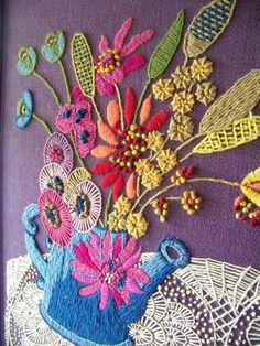 Beautiful Crewel Embroidery Design.