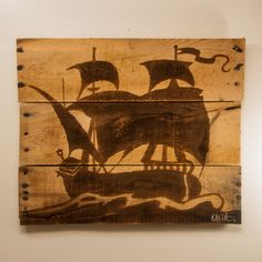 Bedroom, Wooden Etsy Nautical Baby Room Decorations Wood Painting Wall Art In Pirate Ship On The Ocean Themes Wooden Big Pirate Ship Wall Decor Squart Wooden Painting Wall Art Cheap Baby Nursery Wall Decor: Etsy Nautical Baby Nursery Decorations
