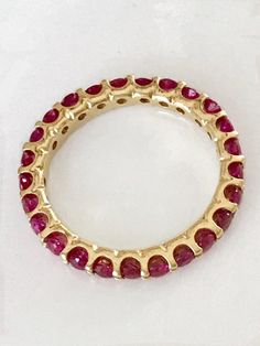 Eternity Wedding Bands, Ruby Eternity Band, Unique Wedding Bands For Women, Spinel Ring, Women's Wed Unique Wedding Bands For Women, Gold Wedding Jewelry, Ruby Jewelry, Eternity Bands, Wedding Ring Bands, Jewelry Design, Bling, Jewels, Ruby Red