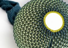 knitted lighting fixtures made from 3D patterned textiles - designboom | architecture & design magazine