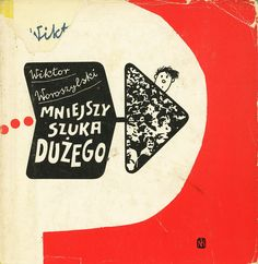 MNIEJSZY SZUKA DUŻEGO, Warszawa 1973, front dustjacket by Bohdan Butenko.