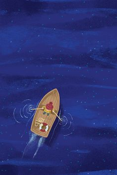 Row Boat from above at night illustration by Chris Chatterton Boat Drawing, Drawing Tips, Chemistry Posters, Kids Boat, Night Illustration, Boat Art, Boating Outfit, Rowing, Animation