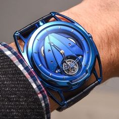 """De Bethune DB28T Tourbillon """"Kind of Blue"""" Watch - by Kenny Yeo of ablogtowatch."""