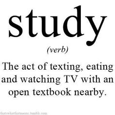 """Because it's the beginning of the semester and we can do this kind of """"study"""" right now... :)"""