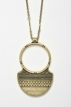 Tribal Ring Pendant Necklace