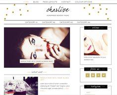 Genesis framework / Wordpress Premade Blog / Fashion Makeup Theme / por LovelyConfetty, $46.00
