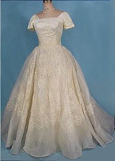 c. 1957 Cahill of Beverly Hills Exquisite Wedding Gown