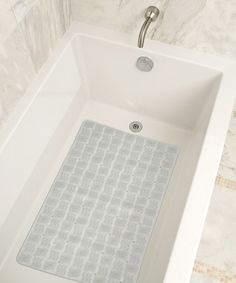 Look what I found on #zulily! Clear Tiled Bath Mat by Design Products #zulilyfinds