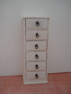 Miniature furniture 1:12 scale chest of drawers by cinen on Etsy