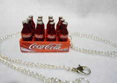 Coca Cola Bottles 12 Pack Necklace by Margyko